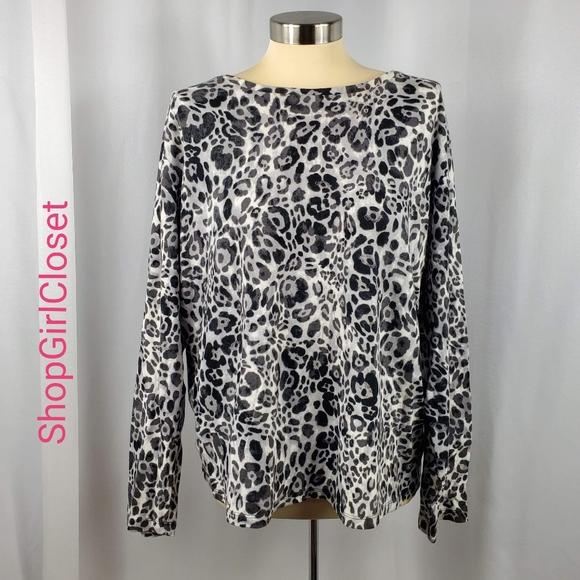 🆕️ Jones NY Leopard Long Sleeve Top - 100% Cotton